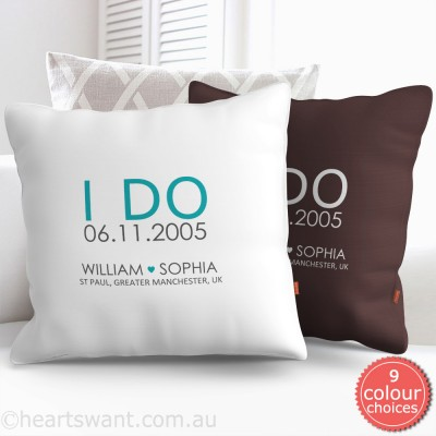 I Do Wedding Personalised Cushion Cover