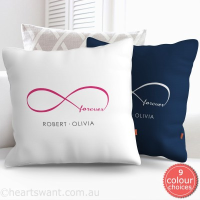 Infinity Forever Personalised Cushion Cover