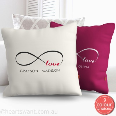 Infinity Love Personalised Cushion Cover