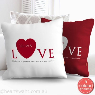 Inside My Heart Personalised Cushion Cover