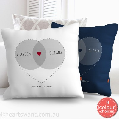 Venn Love Couple Personalised Cushion Cover