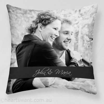 Couple Photo Expressions Cushion Cover