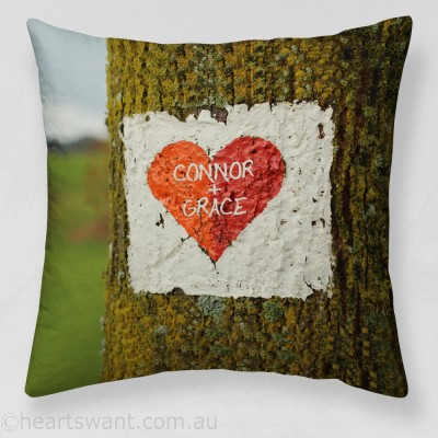 Tree Heart Personalised Cushion Cover
