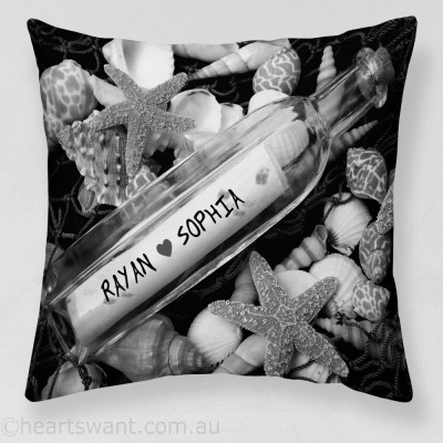 Message In Bottle Personalised Cushion Cover