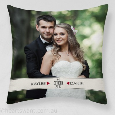 Wedding Memories Photo Cushion Cover