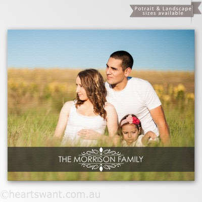 Family Name Photo Canvas Art