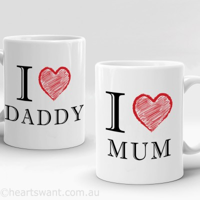 i love title personalised mug