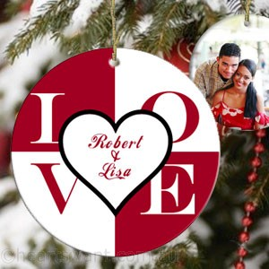 Love Square Personalised Ornament