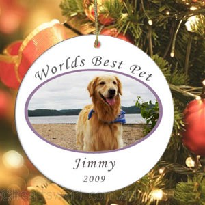 World's Best Pet Personalised Christmas Ornament