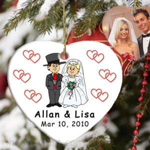 Wedding Couple Personalised Christmas Ornament