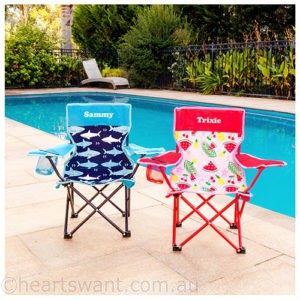 personalised children's camp chair
