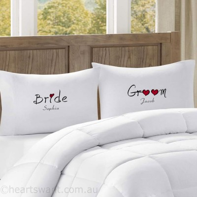 Bride & Groom Personalised Pillowcase