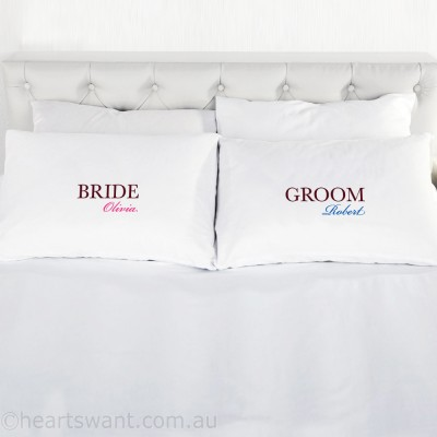 Bride & Groom Classic Personalised Pillowcase - 1