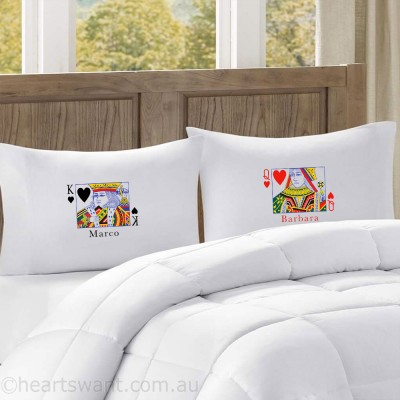 King & Queen Classic Personalised Pillowcases