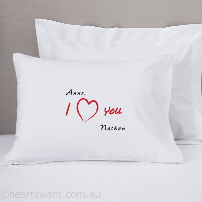 I Love You Personalised Pillowcase