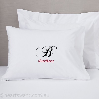 Initials Personalised Pillowcase