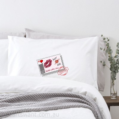 Sealed With A Kiss Personalised Pillowcase