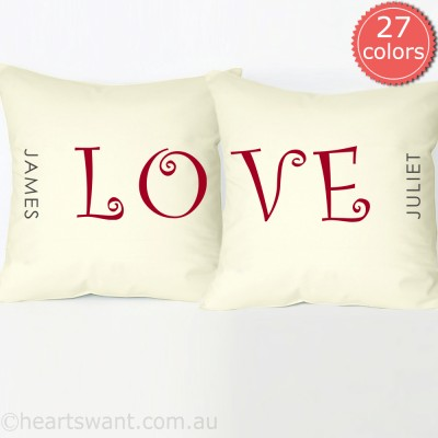 personalised love pillowcase