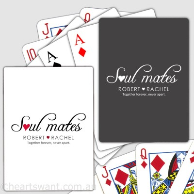 soul mates playing cards