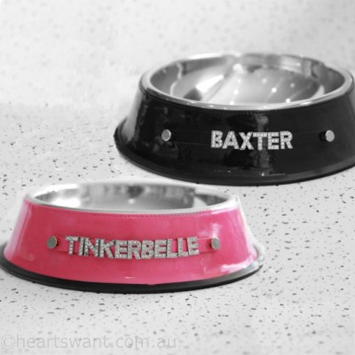 Personalised Pet Bowl Bling