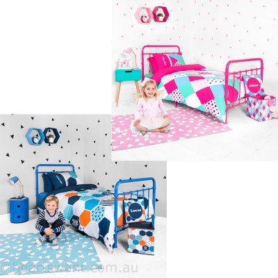 personalised kids Quilt Cover Set