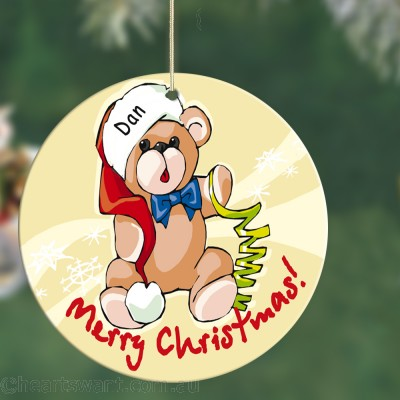 Baby Bear Personalised Christmas Ornament